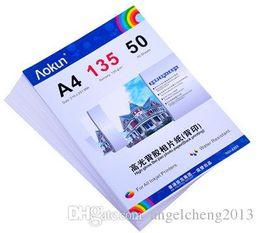Wholesale Photo Paper Sheets - High glossy adhesive back print photo paper A4 135g 50 Sheets inkjet waterproof paper photo paper for Inkjet Prints