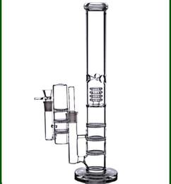 """jack box dab rig Desconto 17 """"altura grande bongos de água 18mm reciclador de plataformas de petróleo dab bubbler triplo favo de mel perc escalas de tubos de vidro tigela cinzas coletor 18.8mm"""