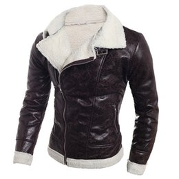 Wholesale Style Men Jacket Fur - Fall-2016 British Style Stylish Fur Leather Jacket Coats Wholesale China Imported Casual Mens Fur Coat PU Leather Trench Coats S1895