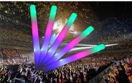 2019 électronique en mousse Flash bâton bâton lumineux Concert Concert bâtons lumineux gros personnalisé électronique led bâton lumineux coloré mousse éponge bâtons lumineux promotion électronique en mousse
