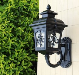 Wholesale One Lantern - Patio Porch One-Light Exterior Wall Lantern Outdoor Light Lamp Bronze Black Finish, Aluminum+ Clear Glass Waterproof Wall Lamp LLFA