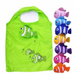 Wholesale Babies Clothes Shops - 100pcs lot Tropical Fish Style Drawstring Shopping Bags Birthday Party Decoration Kids Favors Gift Bags Baby Shower Supplies