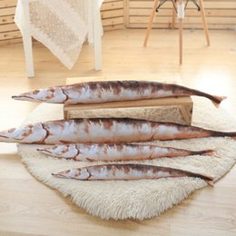 Wholesale 80 cm Large Size Salted fish Plush Toys Pacific saury Plush Cloth Doll kids toys baby birthday gift