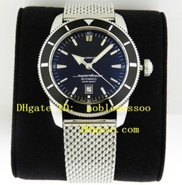 Wholesale Luxury Watches Superocean - Luxury Mens Top quality Superocean Heritage 46mm Black Dial a1732024 b868 Stainless Steel Automatic Men's Watches Sport Watch