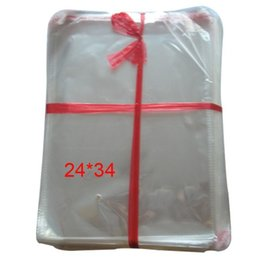 Wholesale Clear Bags 24cm - Clear Resealable 200pcs Cellophane BOPP Poly Bags 34*24cm Transparent Opp Bag Packing Plastic Bags Self Adhesive Seal