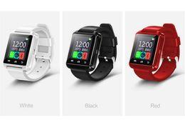 Wholesale Watch Mobile Phone Free Shipping - Multi-language three colors u8 smart watch Step sleep monitoring Bluetooth call mobile phone Bluetooth smart watches free shipping