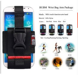 Wholesale Galaxy S4 Holder Belt - BUBM Outdoor Running Gym Arm Band Case Cover For Samsung Galaxy S6 S5 S4 Universal Phone Holder Arm Wrist Leg Belt For HTC M9 M8