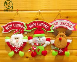 Wholesale Wholesale Santa Snowman Dolls - Christmas Hanging Doll Santa Claus Snowman Elk Hanging Decor For Kid Favor Gift Doll Christmas Tree Party Decoration