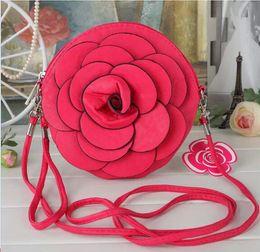 Wholesale Oval Phone - Hot Sale New Fashion Women Camellia bag purse messenger bag handbags phone package handbag roses bags