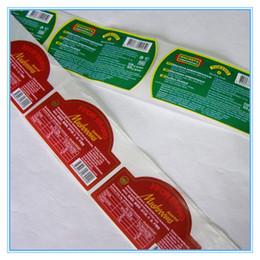2019 etiqueta de comida personalizada etiqueta engomada adhesiva de papel no tóxica del paquete del alimento personalizado etiqueta de comida personalizada baratos