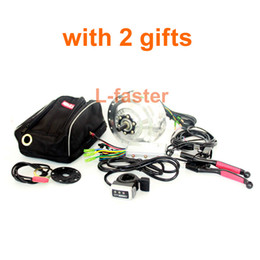Wholesale Electric Wheels Kit - 24V36V48V 250W Electric Bicycle Front Wheel Drive Kit YouE Bruhsless Hub Motor Kit With Newest Wuxing LCD Display Thumb Throttle