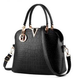 Wholesale Ladies Straw Handbags - Women designer Luxury leather handbags women messenger bag Ladies Shoulder bags crocodile pattern Crossbody Vintage Shoulder Crossbody Bags