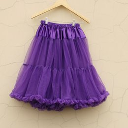 Wholesale Teenage Cloth Wholesale - Purple Extra Fluffy Teenage Girl Adualt Women Pettiskirt Tutu Women Tutu Party Birthday Dance Adult Tutu Skirt Performance Cloth