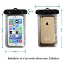 Wholesale Clear Waterproof Cases Galaxy S4 - Waterproof Bag Pouch Cases for iPhone 6 6s Plus 5S 4s Underwater Diving For Galaxy Edge S6 S5 S4 S3 For Samsung Note 4 3 2 Phone