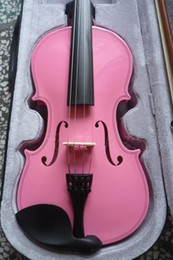 Wholesale Acoustic Pink - PINK High quality violin 4 4 violin handcraft violino Musical Instruments accessories