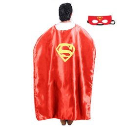 Wholesale High Quality Movie Masks - Gold Hands 140*90cm Costume Clothing Superhero Cape and Masks Ironman Spiderman Adult Capes 15 Styles High Quality Free Shipping