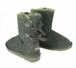 Transporte rápido novo Promoção de Natal Das Mulheres BAILEYBOW Botas NOVAS Botas de Neve para Mulheres Bind bowknot botas de