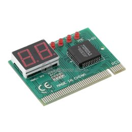 Wholesale Pc Tester Motherboard Diagnostic - Universal PC PCI Diagnostic Card Motherboard Analyzer Tester Post Analyzer Checker 2 Bit Digital Adapter Check
