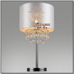 modernas lmparas de mesa de mesita de noche de cristal iluminacin cristalina de la cabecera