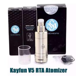 Wholesale Kayfun Mini Clone - 2016 Kayfun V5 RTA Atomizer 304 SS Clone Kayfun 5 Kayfun Five Fit 510 box Mod Kayfun Mini Fogger V5 Atomizer DHL ATB513