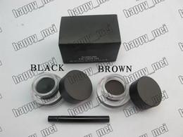 Wholesale Color Eyeliner Gel - Factory Direct Free Shipping New Makeup Eyes Eyeliner 5.5g Fluidline Eye Liner Gel Will Brush!Black Brown