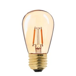 Wholesale Gold Living Rooms - Vintage LED Filament Bulb,1W,Gold Tint,Edison ST45 Pearl Style,Super Warm,Decorative Household Lamp,Dimmable