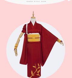 Wholesale Anime Tie - Japanese Anime Bungo Stray Dogs Cosplay Kyoka Izumi Costume :Kimono +Waistband +Bow tie +Bracers +Headwear per set