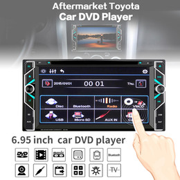 Wholesale Toyota Camry Dvd Player - 6.95Inch 2 DIN Car DVD Player Touch Screen Bluetooth FM Radio MP3 Video Remote Control for Toyota Corolla Camry Kluger Hiace RAV4 Ya CMO_228