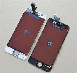 Wholesale Cell Phone Glass Lcd Screens - Glass Touch Screen Grade A +++ LCD Display Touch cell phone LCD Black & white for iPhone 5 5C 5S Wholesale