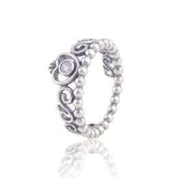 Wholesale Middle East Crown - ladies silver rings crown silver jewelry S925 sterling silver fits for pandora style hot sale for women girl brand quality RIP107