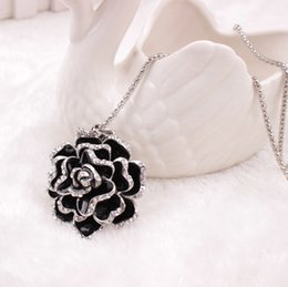 Wholesale Silver Chain Sellers - X 432 New Pattern Autumn And Winter Best Sellers Korean Camellia Flower Long Sweater Chain TaoBao Popular Competitive Products Necklace