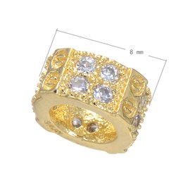 Wholesale Inlay Cube - CZ Micro Pave Brass Beads Nut Plated Micro Inlay Cubic Zirconia More Colors For Choice 8x8mm Hole:Approx 4.5mm