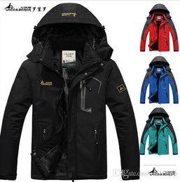 Wholesale 3d Embroidery Hats - 2016 hot Brand Luo Baoluo winter jacket men Plus velvet warm wind parka plus size black hooded Outdoor sport winter coat men