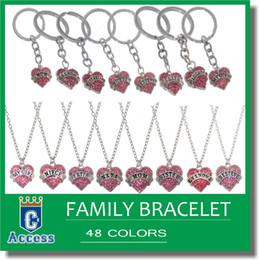 Wholesale Type Fish Hook - 16 types Diamond love Hearts bracelet crystal family member Mom Daughter Grandma Teacher Believe Faith Hope best friend for women