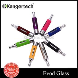 Wholesale Evod Glass - lectronic Cigarette Parts Electronic Cigarette Atomizers Original Kanger EVOD Glass Atomizer Rebuidable Dual Coil Tank Atomizer for Elect...