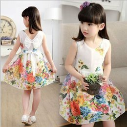 Wholesale Organic Childrens Clothing Wholesale - Girls Flower Dresses Childrens Tutu Dresses Kids Party Clothes Lace Net Baby Girl Birthday Party 2016 Newest Clothes
