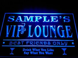 Wholesale Custom Neon Signs - DZ039-b Name Personalized Custom VIP Lounge Best Friends Only Bar Beer Neon Sign