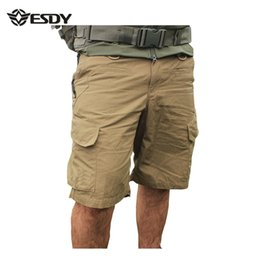 Wholesale Hunting Knee Pants - Wholesale-Cargo Short Pants,ESDY Men Casual Shorts Outdoor Military Hunting Camping Trousers Training Tactical Male outdoor Quick Dry