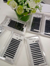 Wholesale Customize Hair Extensions - Natrual Black Individual eyelash extension, soft faux mink eyelash extension,100%hand made , can customized logo and package