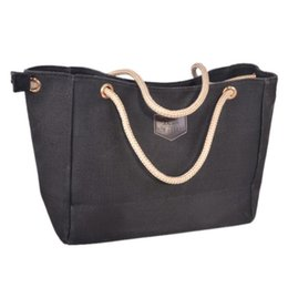 Wholesale Nice Tote Bags - Women Canvas Handbag Nice Fashion Women Large Shoulder Bags Casual Ladies Tote Crossbody Bag