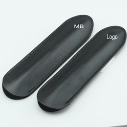 Wholesale Old Schools - High quality Luxury MB pen bag black leather design hold for 1pcs fountain ballpoint pen Gift pen case Mon brand new pouch MT-100