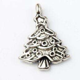 Wholesale Wholesale Bracelet Trees - Star Christmas Tree Charm Bead 100pcs lot 17.4x24.2mm Tibetan Silver Pendants Fashion Jewelry DIY Fit Bracelets Necklace Earrings L743