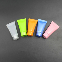 Wholesale Tubes Cosmetic Containers - 100PCS 5ml Cream Tubes Cosmetic Lotion Containers Travel Sample Empty with 5 colours