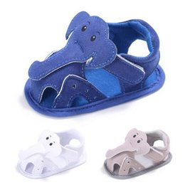 Wholesale Cribs For Baby Girls - Wholesale- TongYouYuan Unisex Baby Boys Girls Cartoon Elephant Summer Shoes Beach Hollow Crib Babe Footwear For Infant Toddler Kids