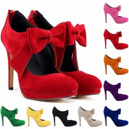 Милые девушки обувь платформа высокие каблуки дамы женщины насосы свадебное платье женская обувь размер США 4-11 D0003 от