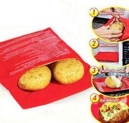 Wholesale Tool Pocket Bag - Potato Express Microwave Bakeware Bag Cooker Cooking Tools Pocket Kitchen Steam Gadget Rushed Cozinha Washable Bags
