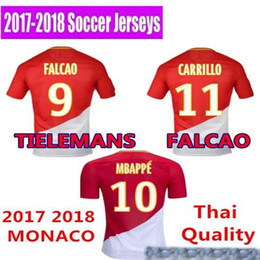 Wholesale Monaco Gold - 2017 18 new AS MONACO FALCAO MBAPPE LEMAR camisetas futbol camisa de futebol maillot de foot survetement football kit uniform SOCCER JERSEY