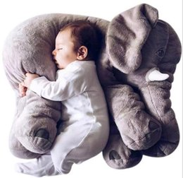 Wholesale Elephant Plush - 5 Color Elephant Pillow baby doll children sleep pillow birthday gift INS Lumbar Pillow Long Nose Elephant Doll Soft Plush 65*45*25cm