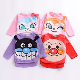 Wholesale Kids Superman T Shirts - INS Baby Clothes 2017 Autumn Boys Girls Cute Cartoon Long Sleeves T-shirt Cotton Bread Superman T-Shirt Kids Baby Tops 4 Designs 154