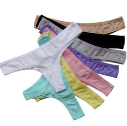 Wholesale Wholesale Plus Size Women Panties - T foreign trade the original Girl's Panties cotton trousers sexy low-cut women underwear candy color Panties ,comfortable 4125